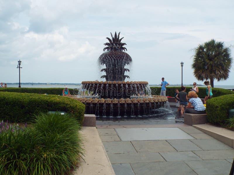 Fontein in Charleston stock afbeelding