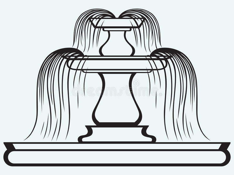Fontein in de stijl van renaissance royalty-vrije illustratie