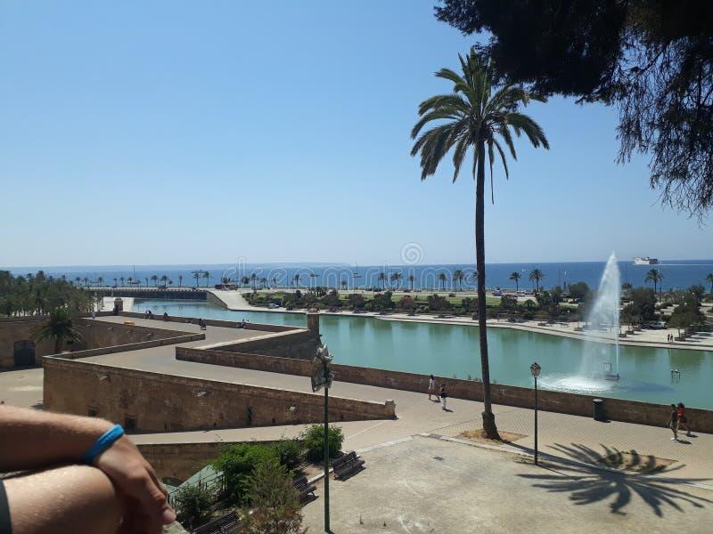 Fontein Mallorca stock foto