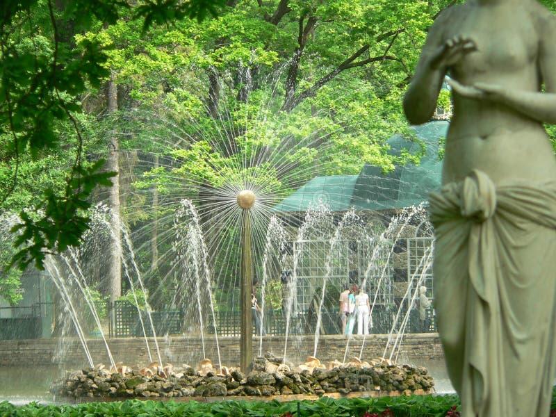 Fontein in Petersburg stock fotografie