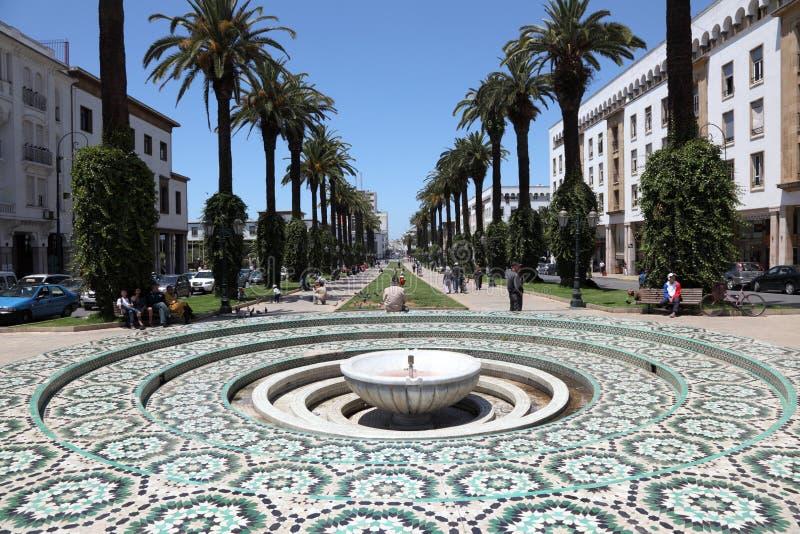 Fontein in Rabat, Marokko royalty-vrije stock afbeeldingen