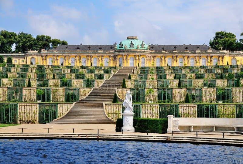 Fontein in Sanssouci, Potsdam royalty-vrije stock foto's