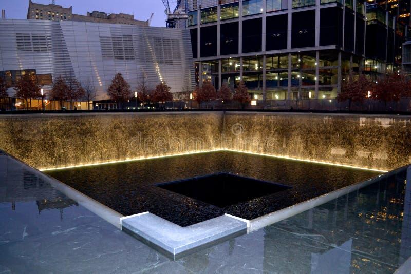 Fontein 11 September Gedenkteken royalty-vrije stock fotografie