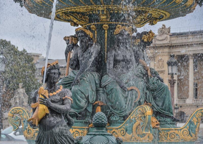 Fontein van het Overzees in Place DE La Concorde stock foto