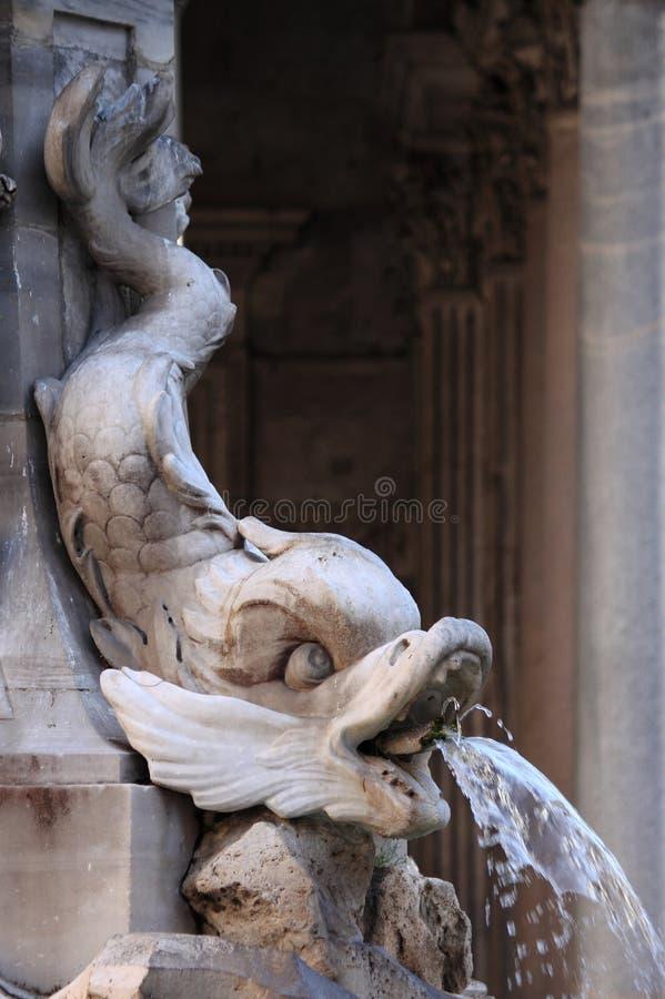 Fontein van het Pantheon in Rome stock foto's