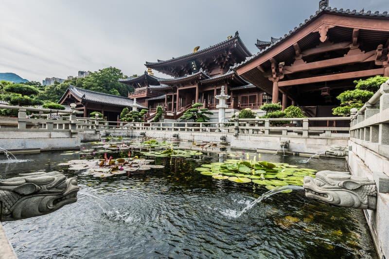 Fonteinchi Lin Nunnery Kowloon Hong Kong stock foto's