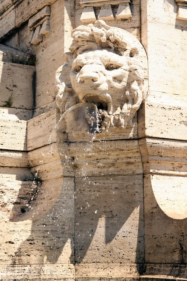 Fonteinhooggerechtshof Rome Italië stock fotografie