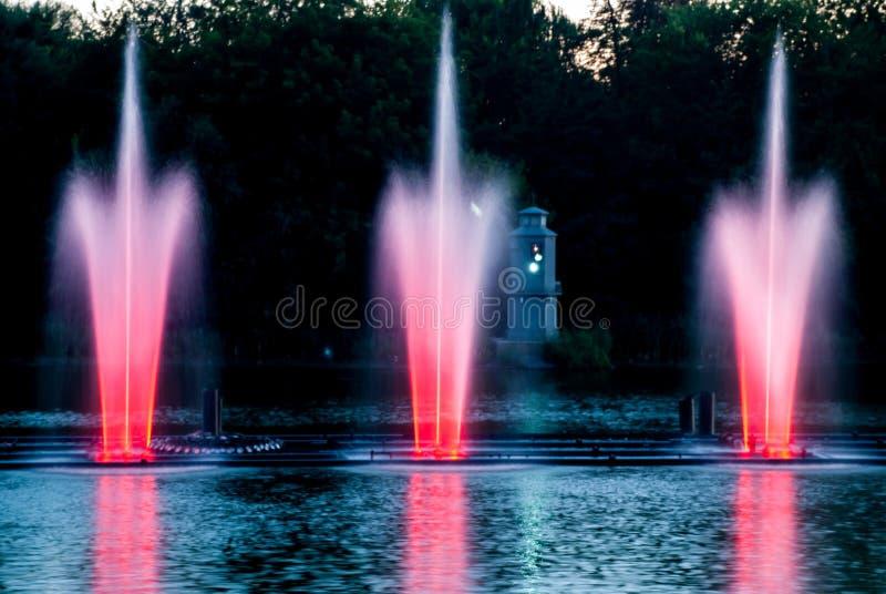 Fonteinlichten royalty-vrije stock foto
