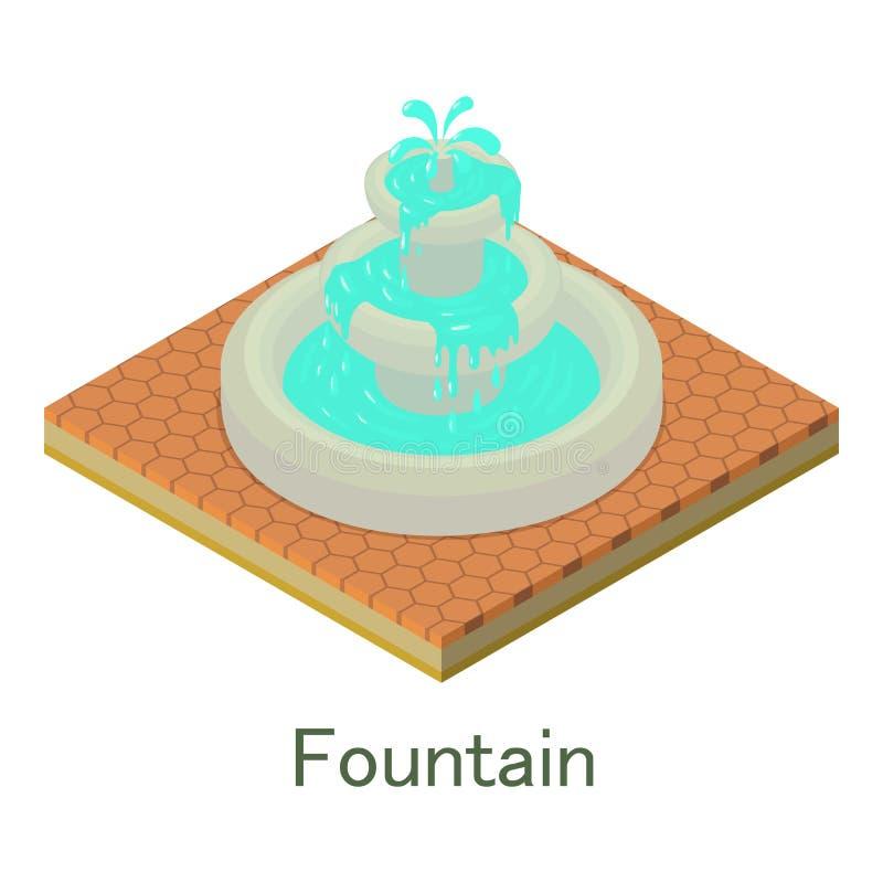 Download Fonteinpictogram, Isometrische Stijl Vector Illustratie - Illustratie bestaande uit landschap, park: 107707986