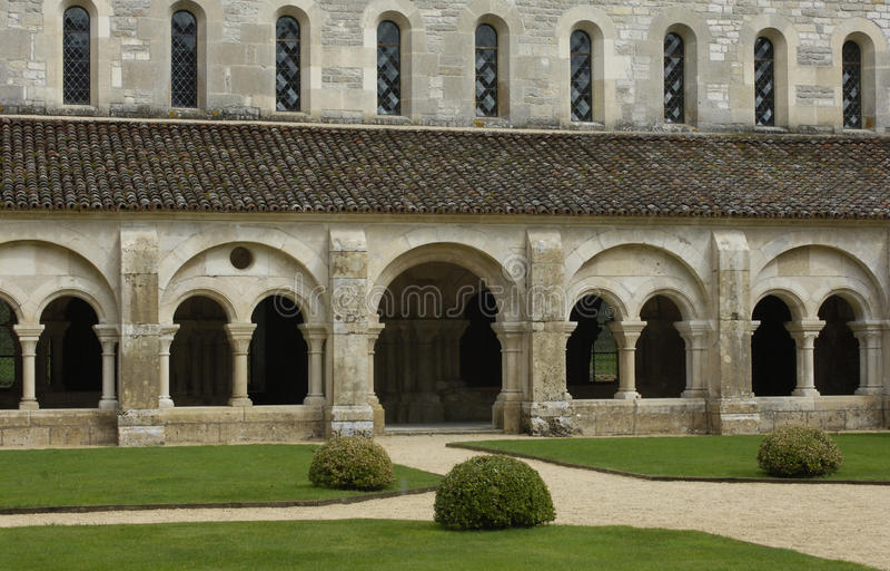 fontenay abbey arkivfoton