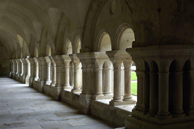 fontenay abbey arkivbild