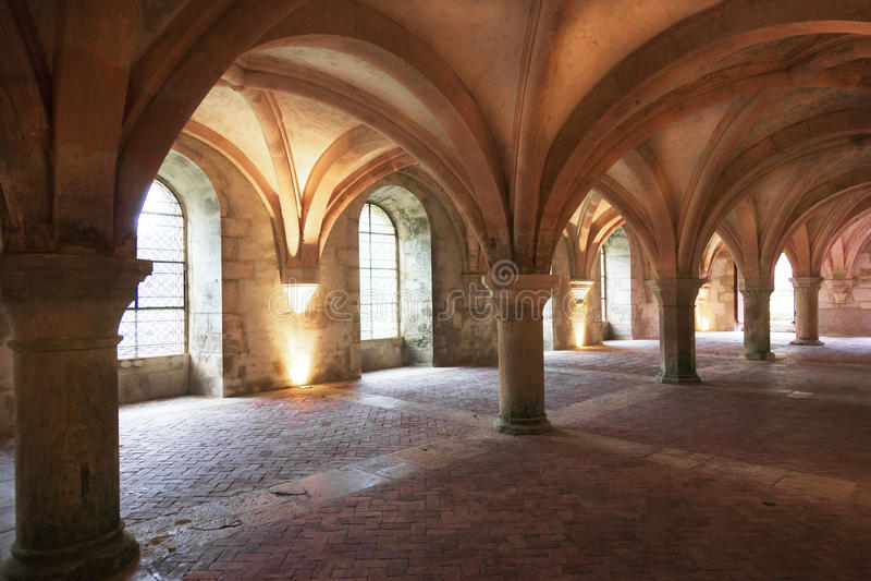 Fontenay Abbey, France royalty free stock photo