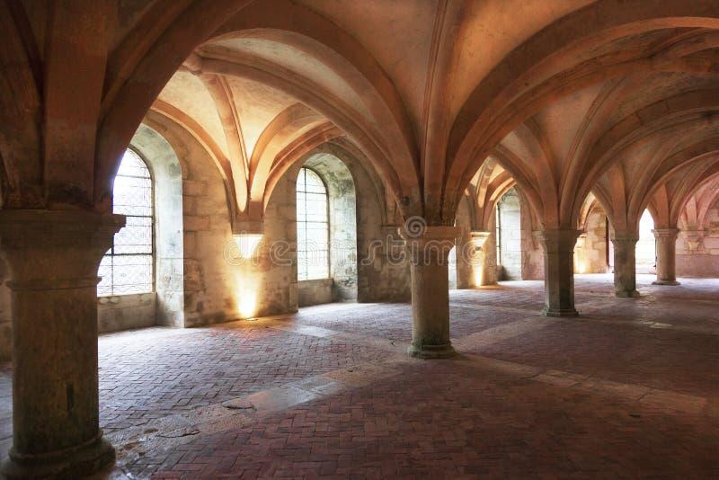 Fontenay opactwo, Francja zdjęcie royalty free