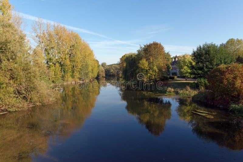 Fontenay surLoing by royaltyfri foto