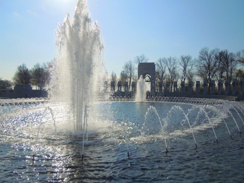 Fontes de água no memorial foto de stock