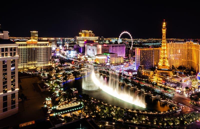 Fontes de Bellagio de Las Vegas fotografia de stock royalty free