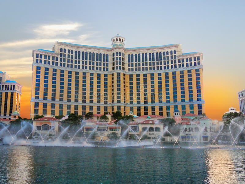 Fontes de Bellagio, Las Vegas imagens de stock