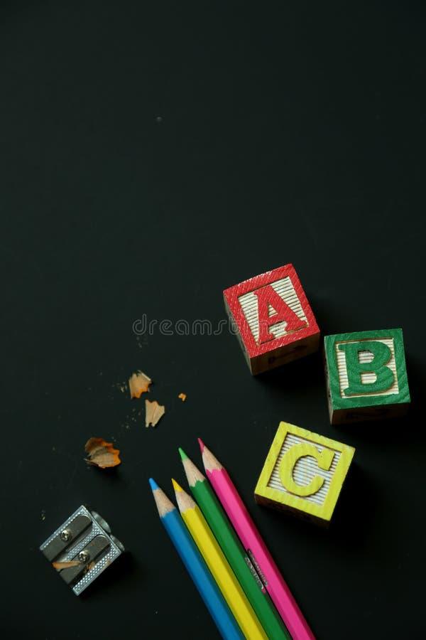 Fontes de escola fotos de stock