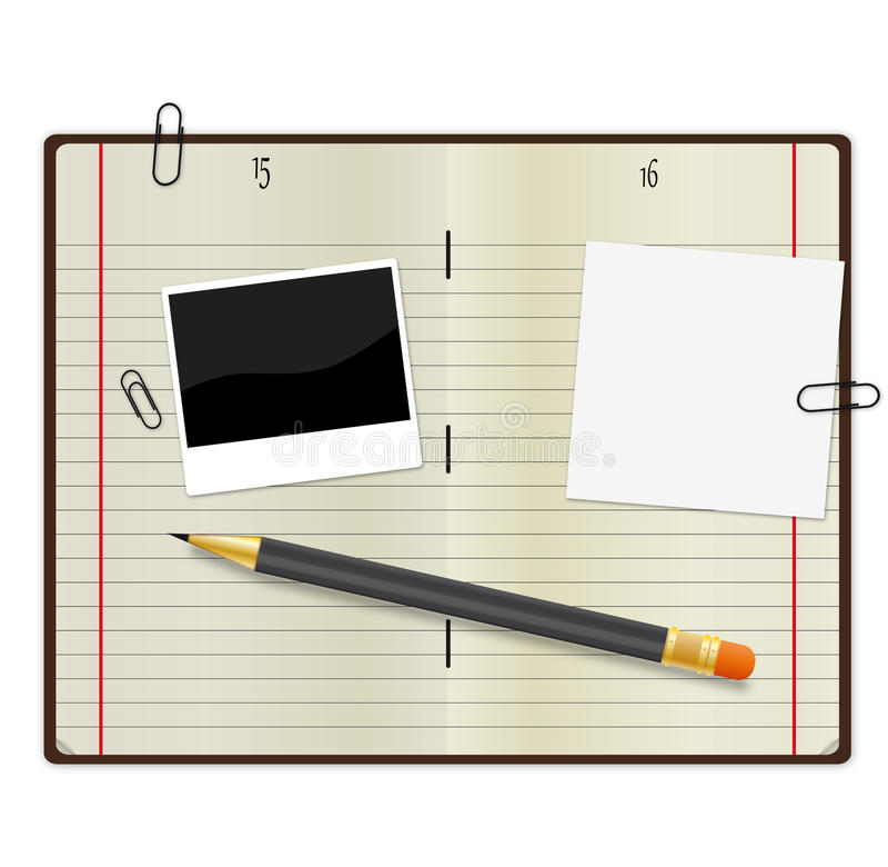 Fontes de escritório ilustração do vetor