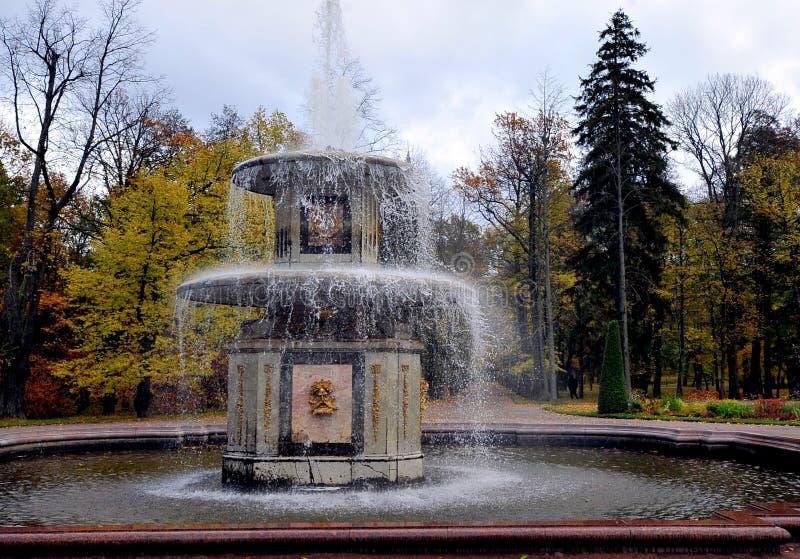 Fontes de Peterhof, Rússia foto de stock