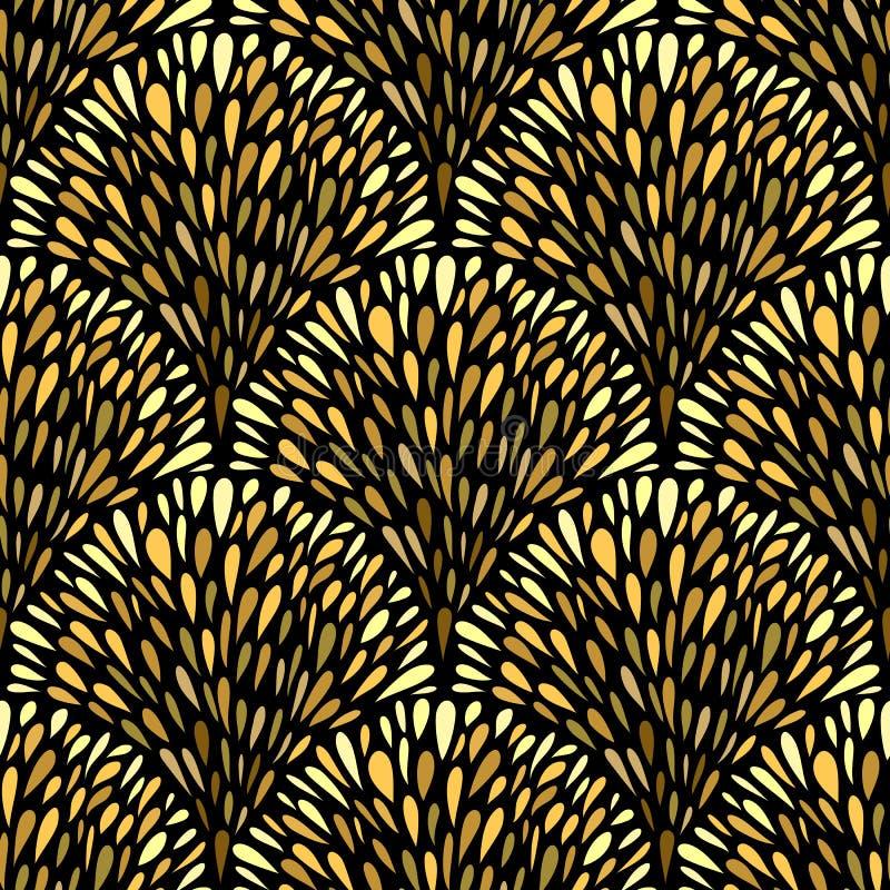 Fontes douradas do fundo sem emenda das gotas ilustração royalty free