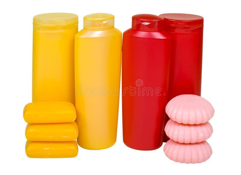 Fontes higiênicas coloridas foto de stock royalty free