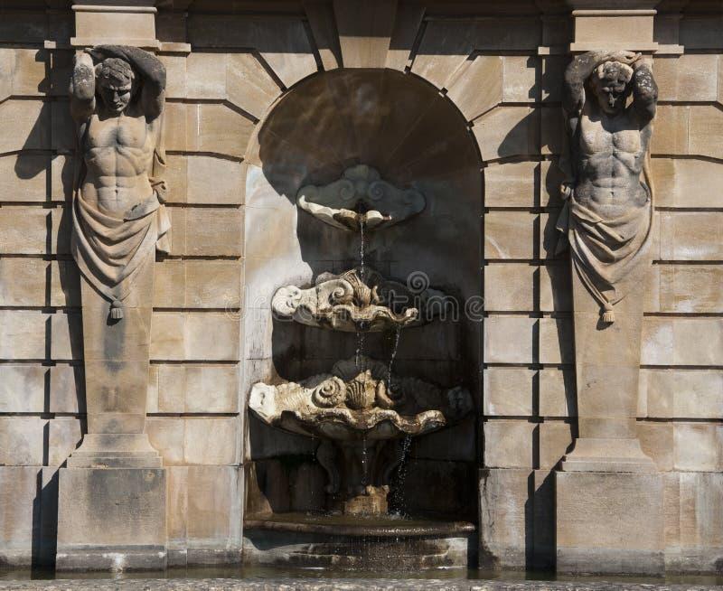 Fontes no palácio do blenheim fotos de stock
