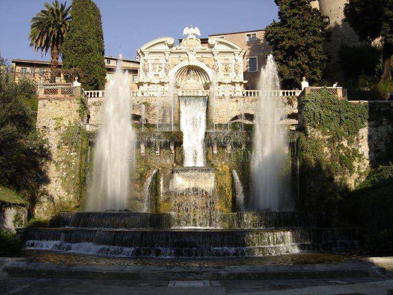 Fontes romanas de Tivoli fotos de stock