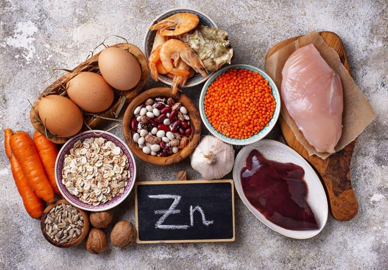 Fontes saudáveis do produto de zinco foto de stock royalty free