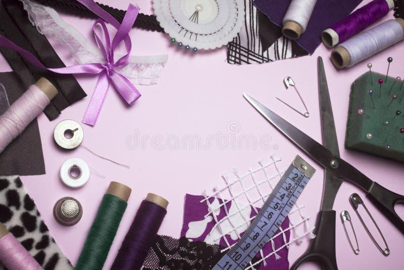 Fontes Sewing imagens de stock