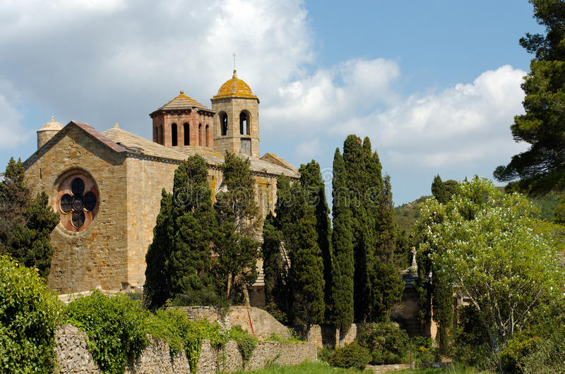 Fontfroide Abbey In South Of  France Royalty Free Stock Photos