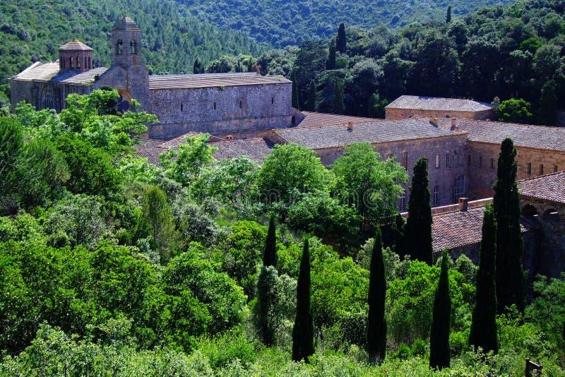 Fontfroide van Abbaye royalty-vrije stock fotografie