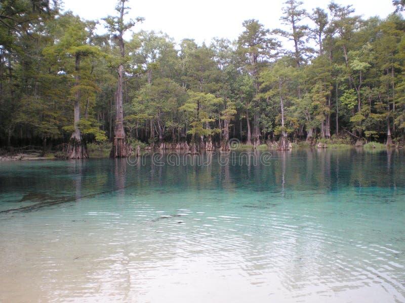 Fonti acqua la spiaggia cristallina di Florida Panama City fotografia stock libera da diritti