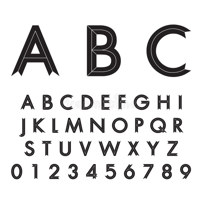 Download Fonti alfabetiche e numeri illustrazione vettoriale. Illustrazione di icona - 55360232