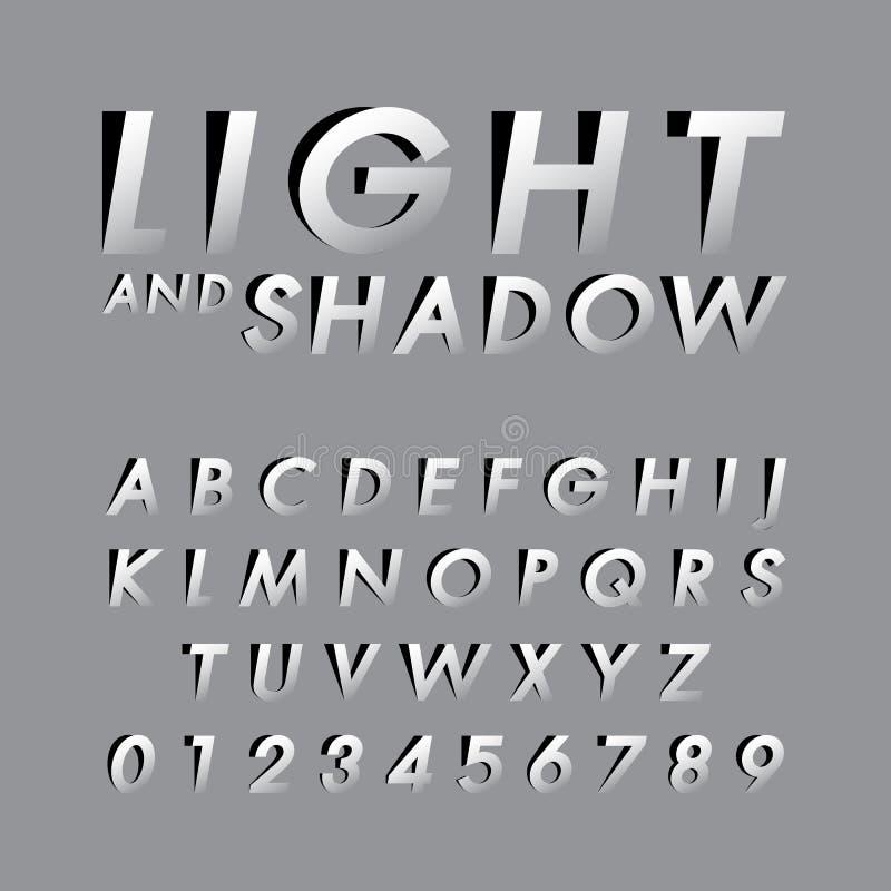 Download Fonti alfabetiche e numeri illustrazione vettoriale. Illustrazione di arte - 55360436
