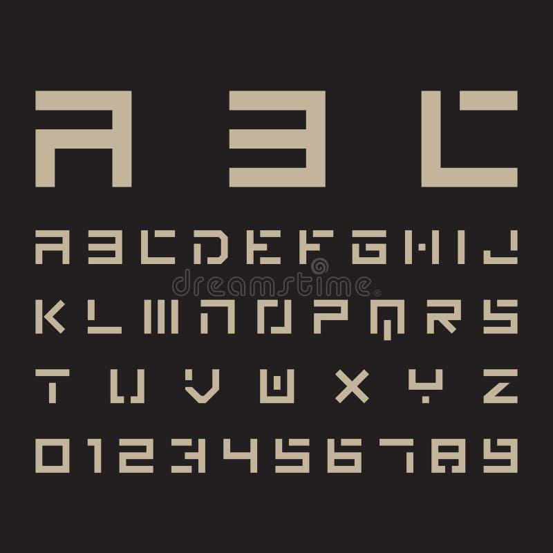 Download Fonti alfabetiche e numeri illustrazione vettoriale. Illustrazione di minus - 55360437