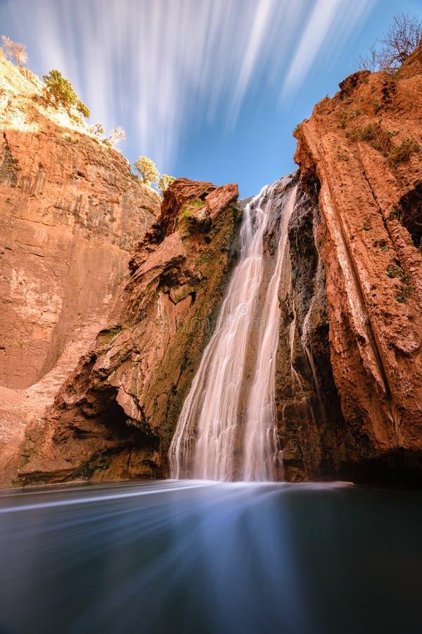Fonti Oum er Rbia, parco nazionale di Aguelmam Azigza, Marocco fotografie stock libere da diritti