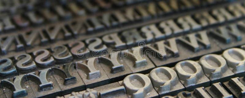 Download Fonts stock image. Image of keys, monotype, press, macro - 152465