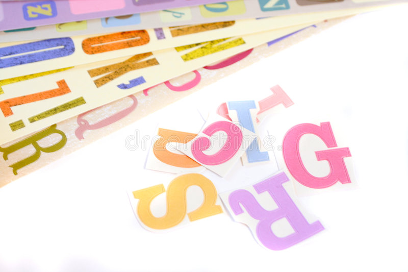 Fonts Stock Photo