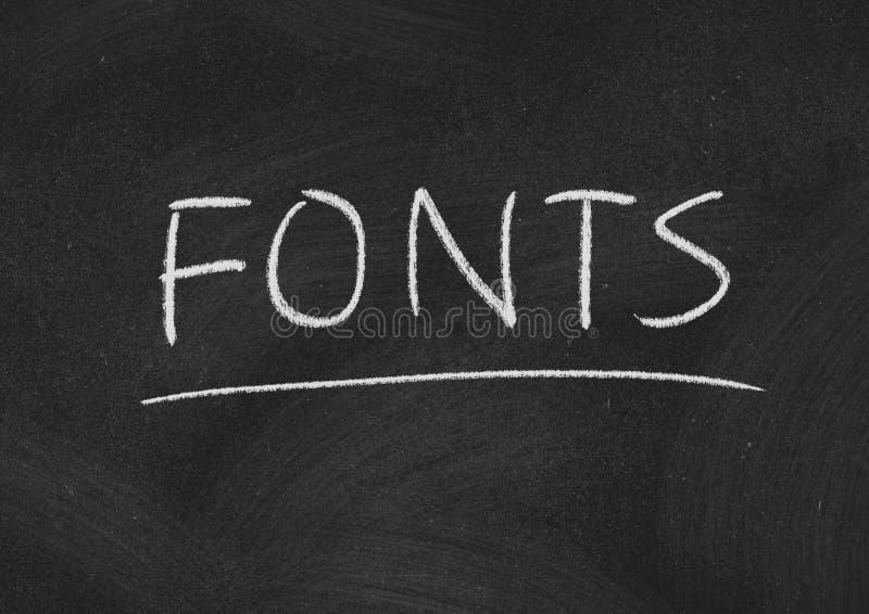 Fonts stock photos