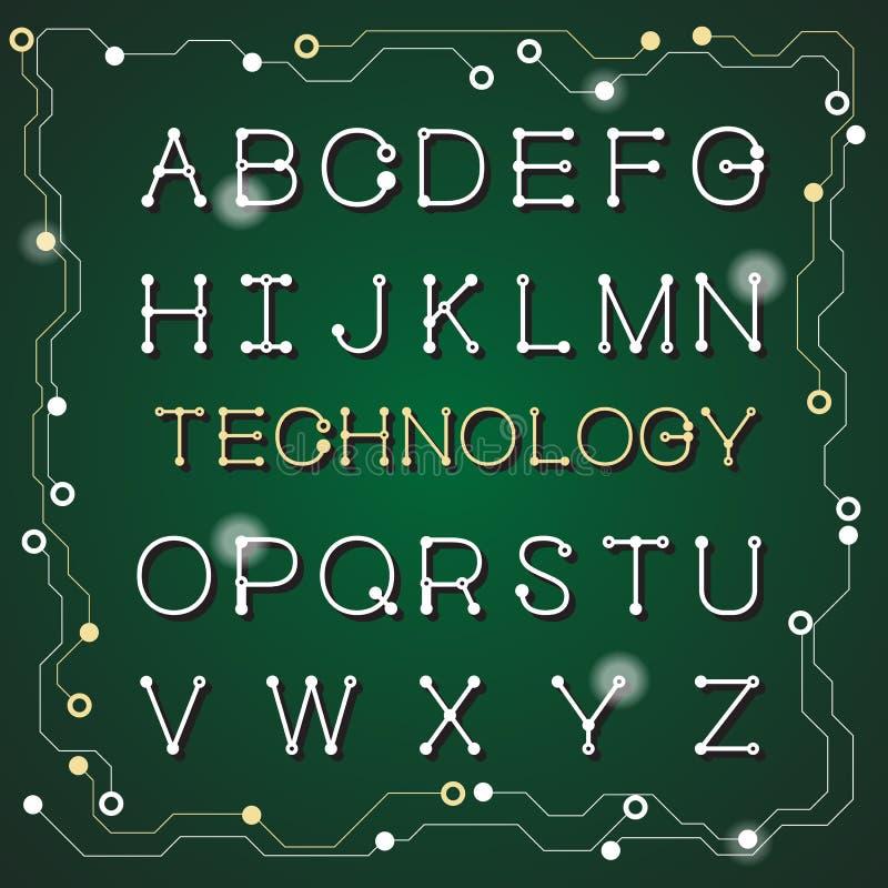 Fonts digital background