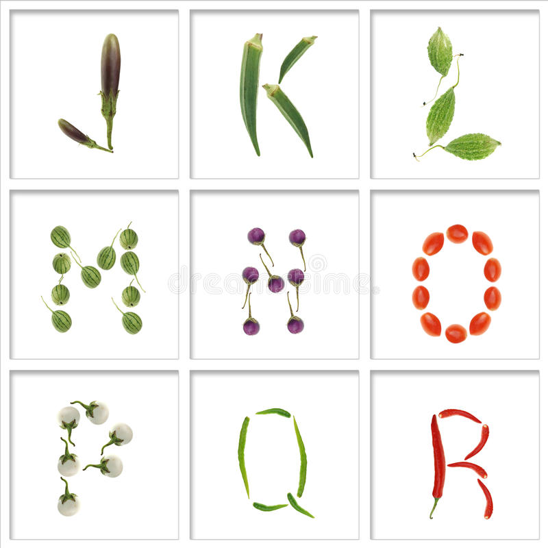 Fonts From Vegetable Stock Photo