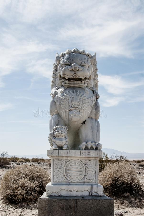 Foo Dog In The Mojave Desert royalty free stock images