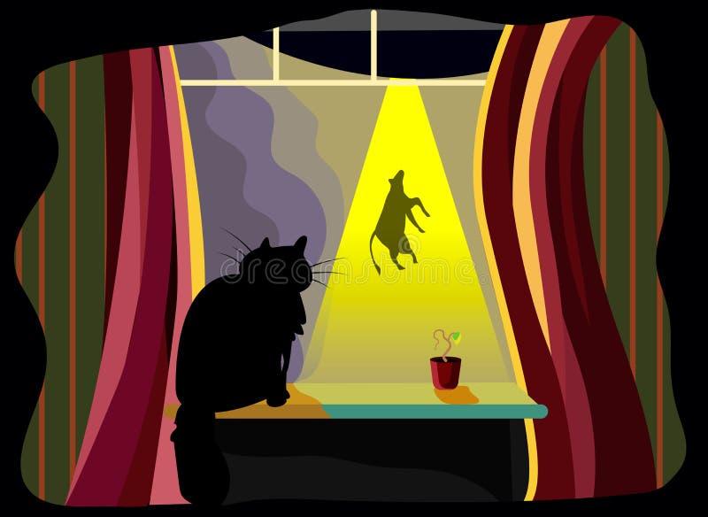Foo rápido del diseño del ejemplo del vector del carácter del personaje de dibujos animados del ejemplo de los animales de los na libre illustration