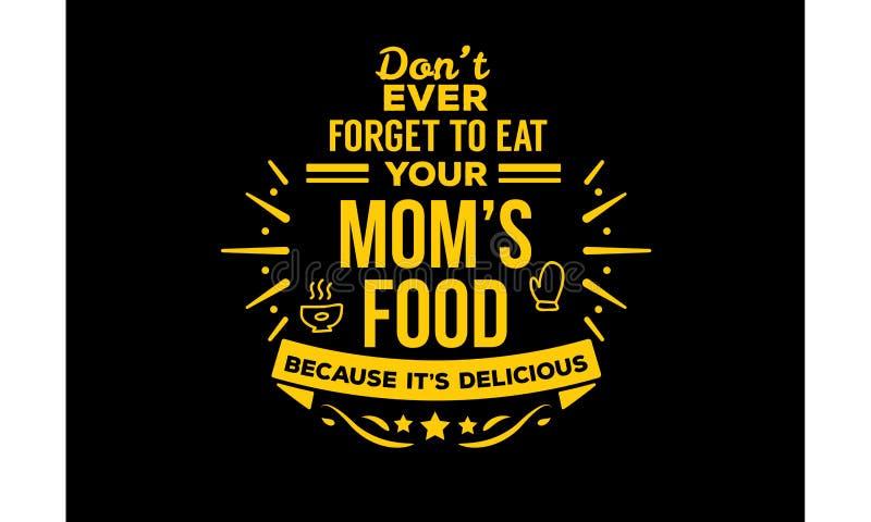 Food& x27 мамы; s иллюстрация штока