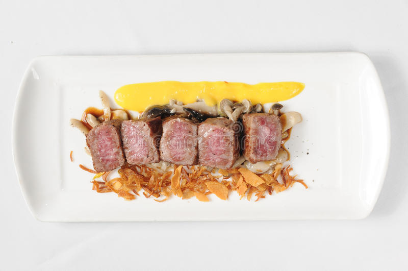 Food. Health and delicious steak food royalty free stock images