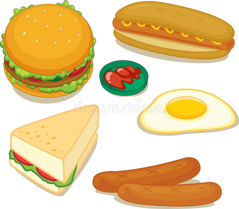 Download Food stock vector. Image of cartoon, plate, colour, colorful - 13034173