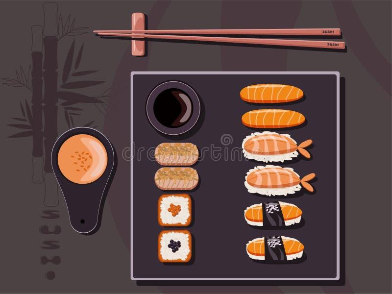 Sushi time stock illustration