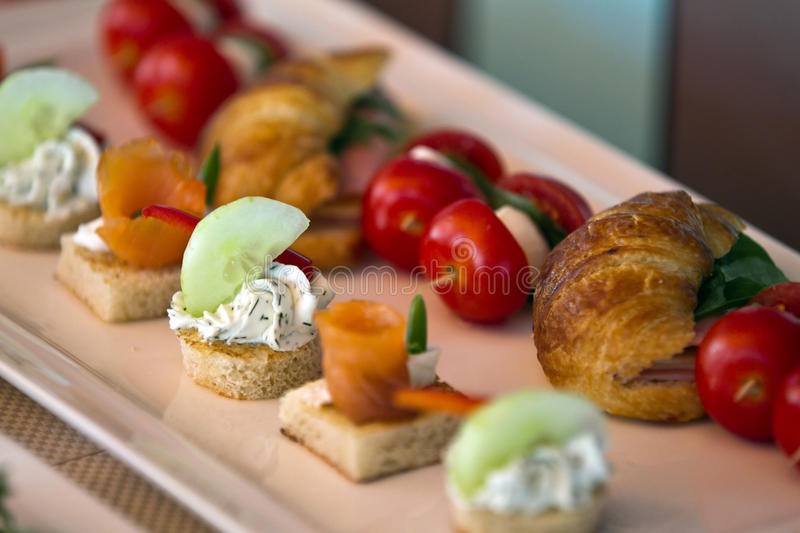 Food. Different types of food on a plate royalty free stock photography