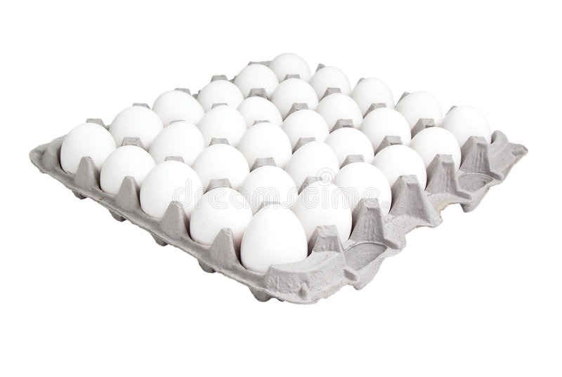 Food: 24 Count Carton of Eggs stock photography